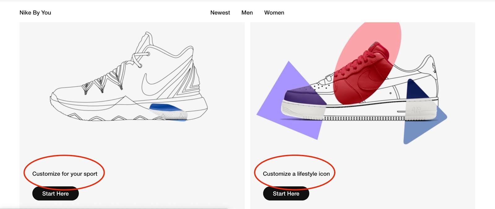 Nike online shoe customizer