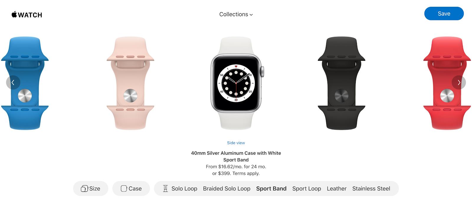 apple online watch customization