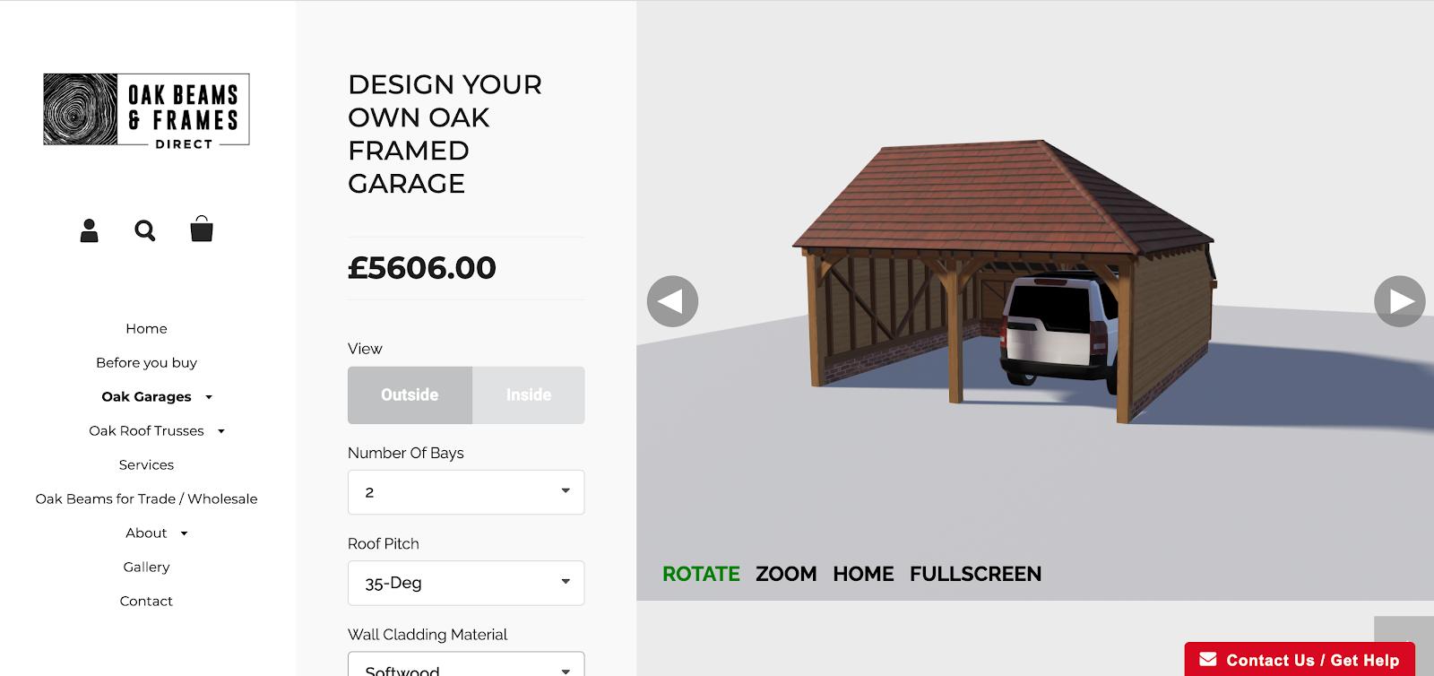 Oak Beam customizer