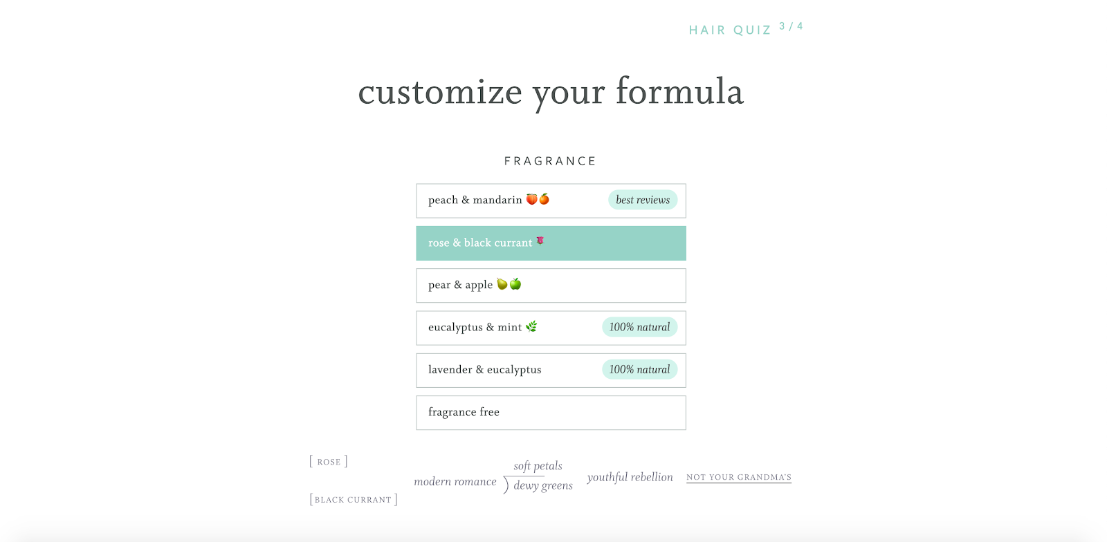 shampoo customized formula
