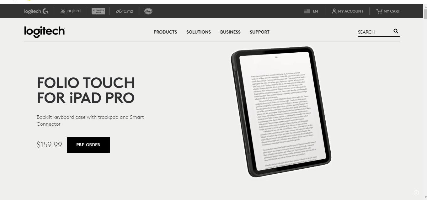 Logitech 360 product viewer of iPad Pro