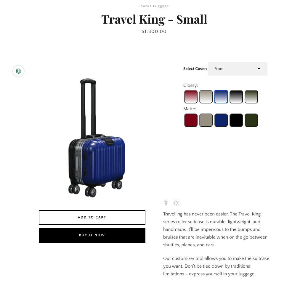Product configuration with BigCommerce & Threekit