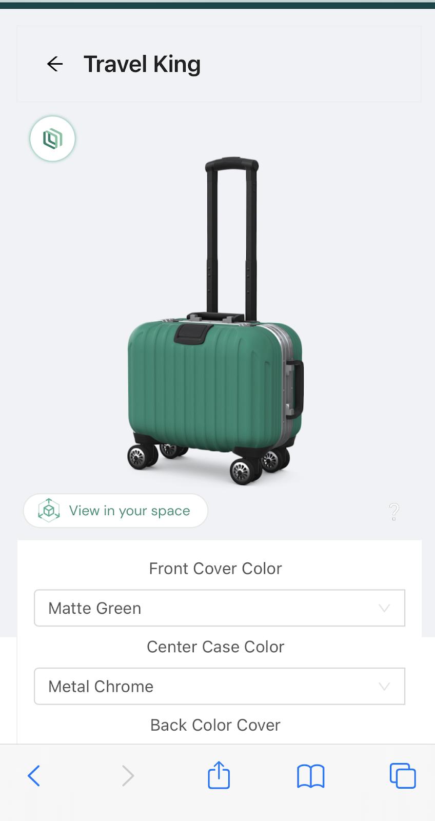 AR suitcase