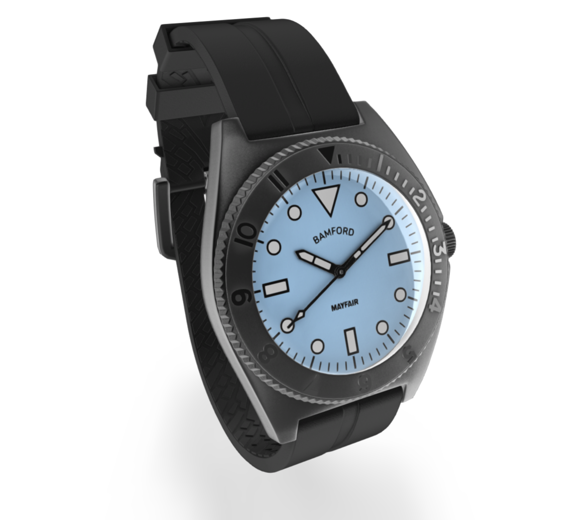 3D wristwatch image created by Threekit's 3D product configurator