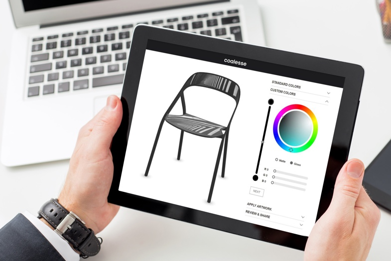Tablet PC showcasing Threekit's 3D configurator