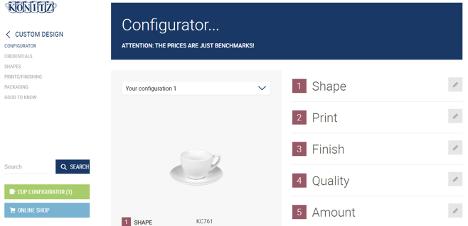 konitz online product configurator