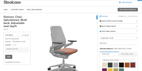 steelcase chair configurator
