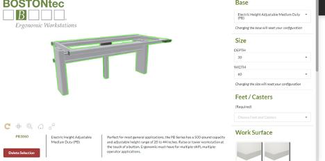 boston tech 3D product configurator